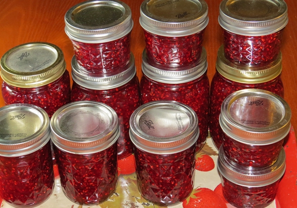 Raspberry Jam. Imagine a warm biscuit and jam this winter.