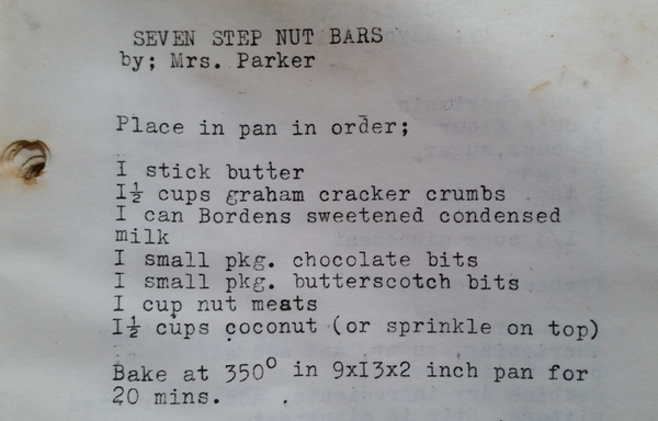 Old recipe, nut bars, recipes