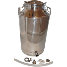 Toggle Lid Milk Can - 10 gallon with Outlet