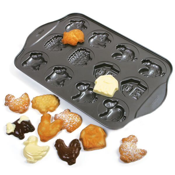Butter Multi-Mold Farm Animals