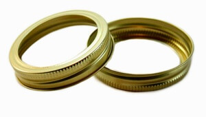 Bulk GOLD Canning Bands Wide Mouth - Two Dozen