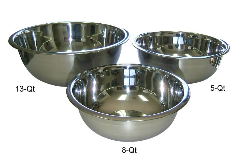 Heavy Duty Stainless Steel Mixing Bowls Set of Three