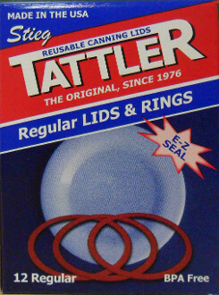 Tattler Regular Mouth Canning Lids and Rings