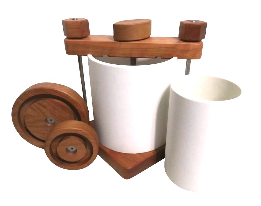 The Ultimate Cheese Press in Cherry Wood