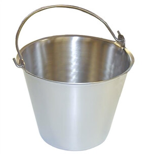Stainless Steel Milk Pail - 9 Qt - Case of 6