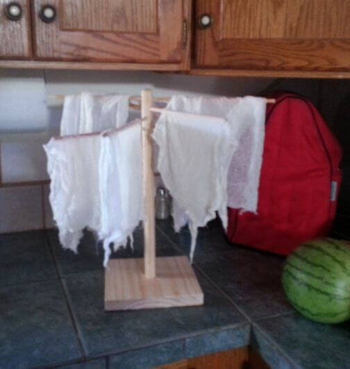 Cheese Cloth Drying Rack