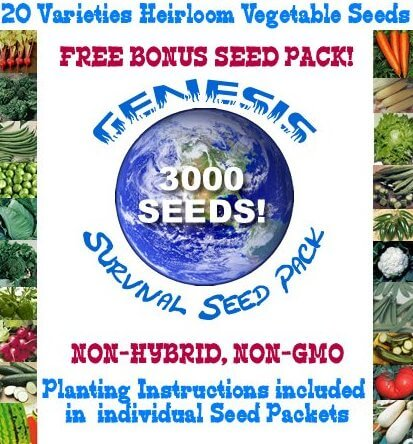3000 Survival Heirloom Vegetable Seeds Emergency Pack