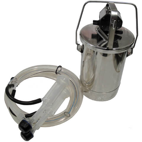 1.5 Gallon Stainless Bucket Assembly for One Goat