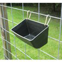 "11"" Fence Feeder – Black - Set of 6"