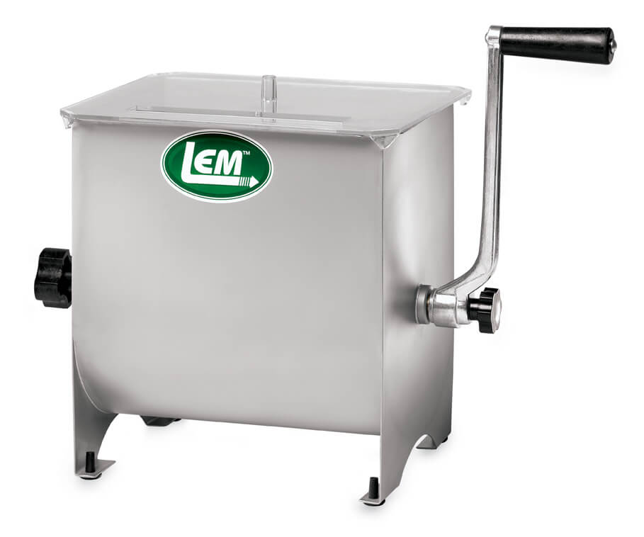 LEM 20 lb Manual Meat Mixer Stainless Steel