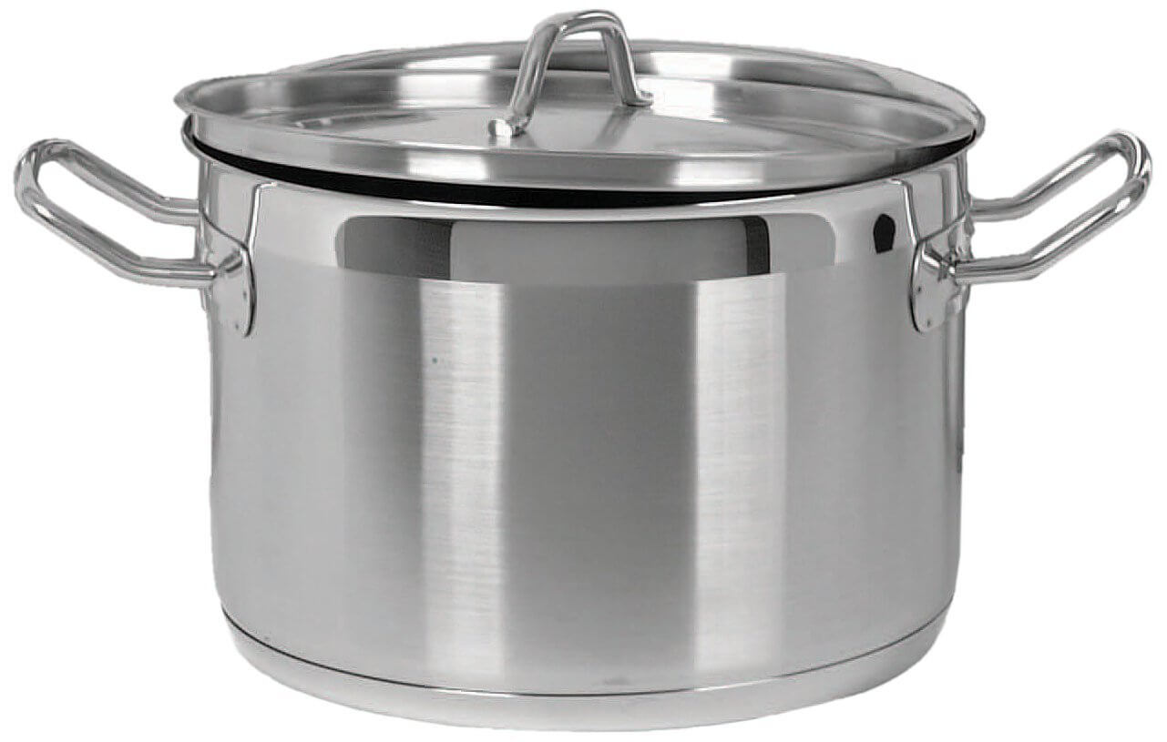 24 Qt Heavy Duty Stainless Steel Stock Pot with Lid