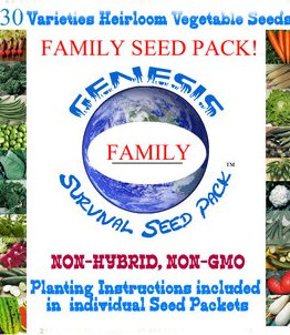 30 Pack Survival Family Vegetable Seeds