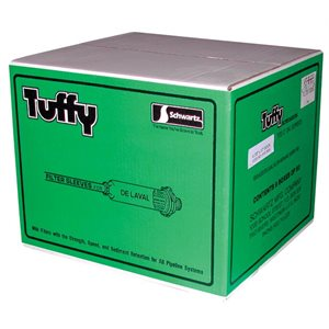 "Schwartz 4-7 / 8""x17"" Tuffy Filter Socks--9 Boxes of 50"