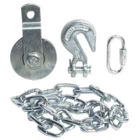 Bottom Pulley & Chain for 4-Wheel Hog Cart