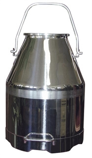 50 lb Deluxe SS Milker Bucket with Long Handle