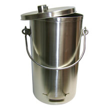 Stainless Steel Tote with Cover - 5 gal