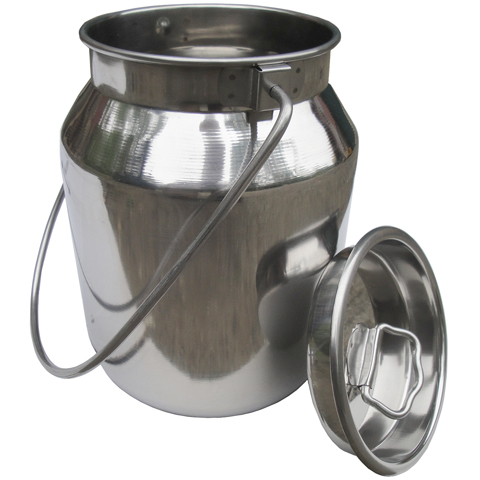 10 Quart Stainless Milk Carry Can with Lid (2.5 gallon)