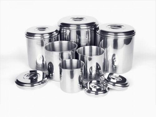 Stainless Steel Canister Set of Six