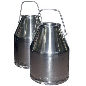 65 lb SS Milking Bucket with Long Handle 30 liter