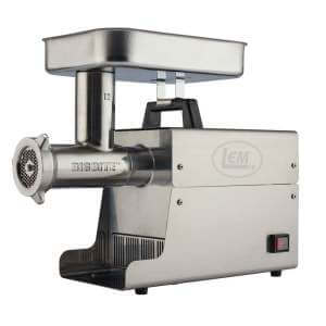 LEM Big Bite Stainless Steel Electric Grinder #12