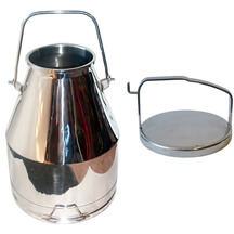Stainless Bucket with Locking Lid - 4 gallons