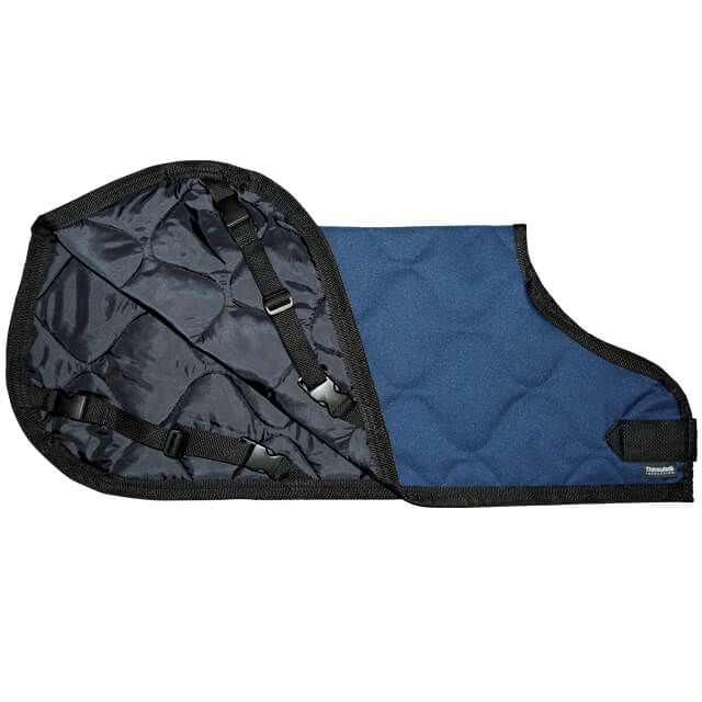 Calf Jacket Navy Quilted - Small