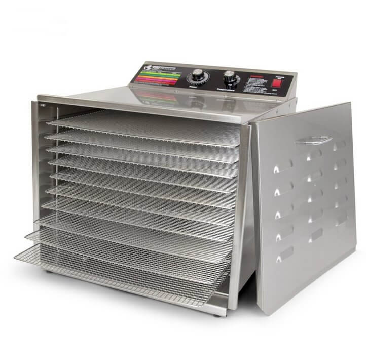 TSM Dehydrator with Ten Stainless Steel Racks