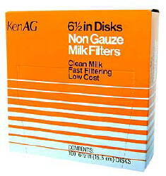 "Milk Filter 6-1/2"" Non-Gauze Disk--15 Boxes of 100"