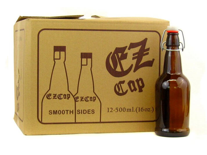EZ Cap Grolsch Bottles - 16 oz Amber - Case of 12