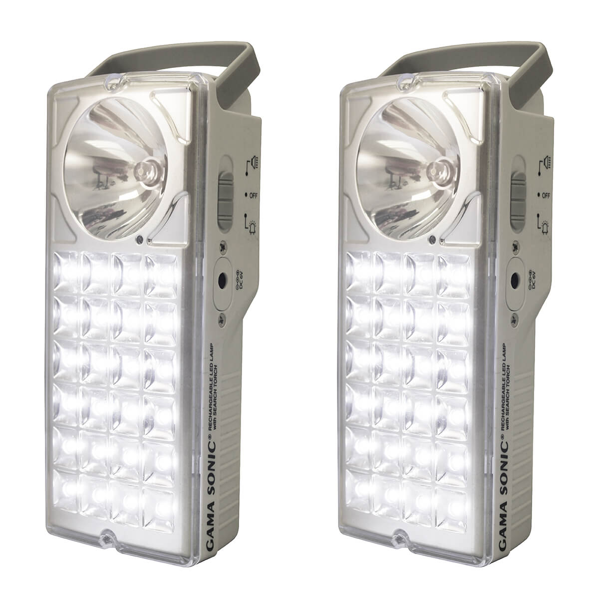 Emergency Rechargeable Lantern With Flashlight -Set of Two