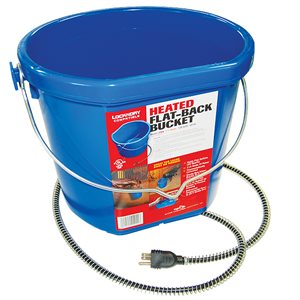 Heated Flat-Back Bucket - 20 Qt Set of Two