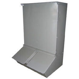 Hog Feeder, Double Door 100lb Capacity