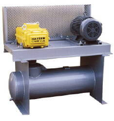 Kaeser Compact 15HP Tri-Lobe Pump Assembly with Motor