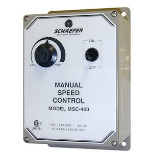 Manual Speed Control for Schaefer Fan