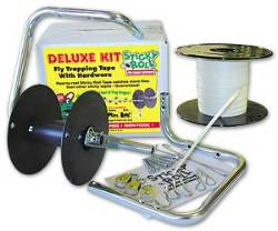 Mr Sticky Fly Tape 600 Ft Deluxe Kit with Hardware - Case of 6