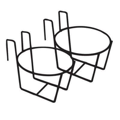 Double Unit Pail Holder for Use on 2x4 - case of 12