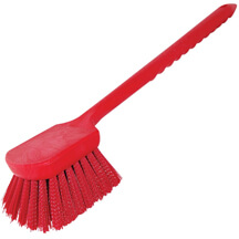 RED POLY GONG BRUSH WITH POLY BRISTLES - 20""