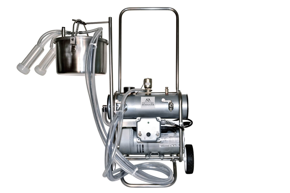 Hoegger Single Belly Pail Goat Milking Machine