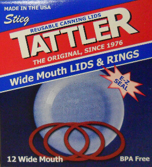Tattler Wide Mouth Canning Lids and Rings