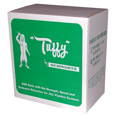 "Tuffy Filter Socks 2-1 / 4"" x 6""-- 10 Boxes of 100"