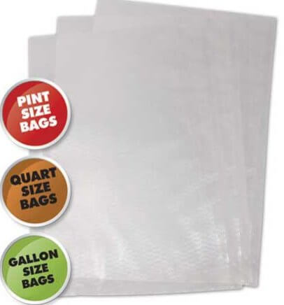 Commercial Grade Vacuum Bags 50 Bag Variety Pack