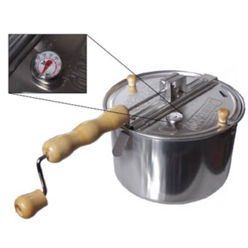 Modified Whirley-Pop Coffee Roaster