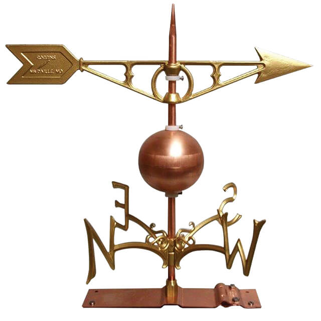 Antique-Style Weather Vane w/Compass