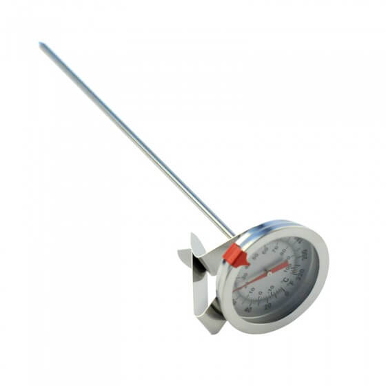"Thermometer - Stainless Steel 2"" Dial and Clip"