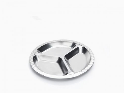 Stainless Steel Divided Food Tray - set of Two