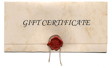 Gift Certificates (see instructions below)