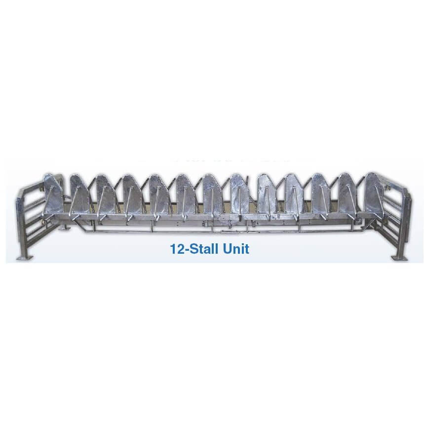 Goat or Sheep Basic 12 Stall Head Gates for Milking