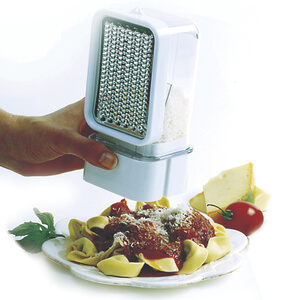 Grate, Dispense, and Store for Cheese