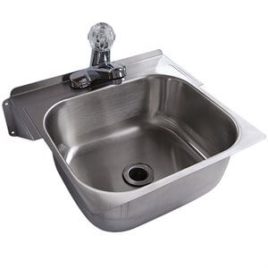 Stainless Steel Hand Sink with Faucet Set