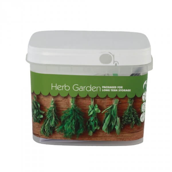 Herb Garden Seeds Bucket